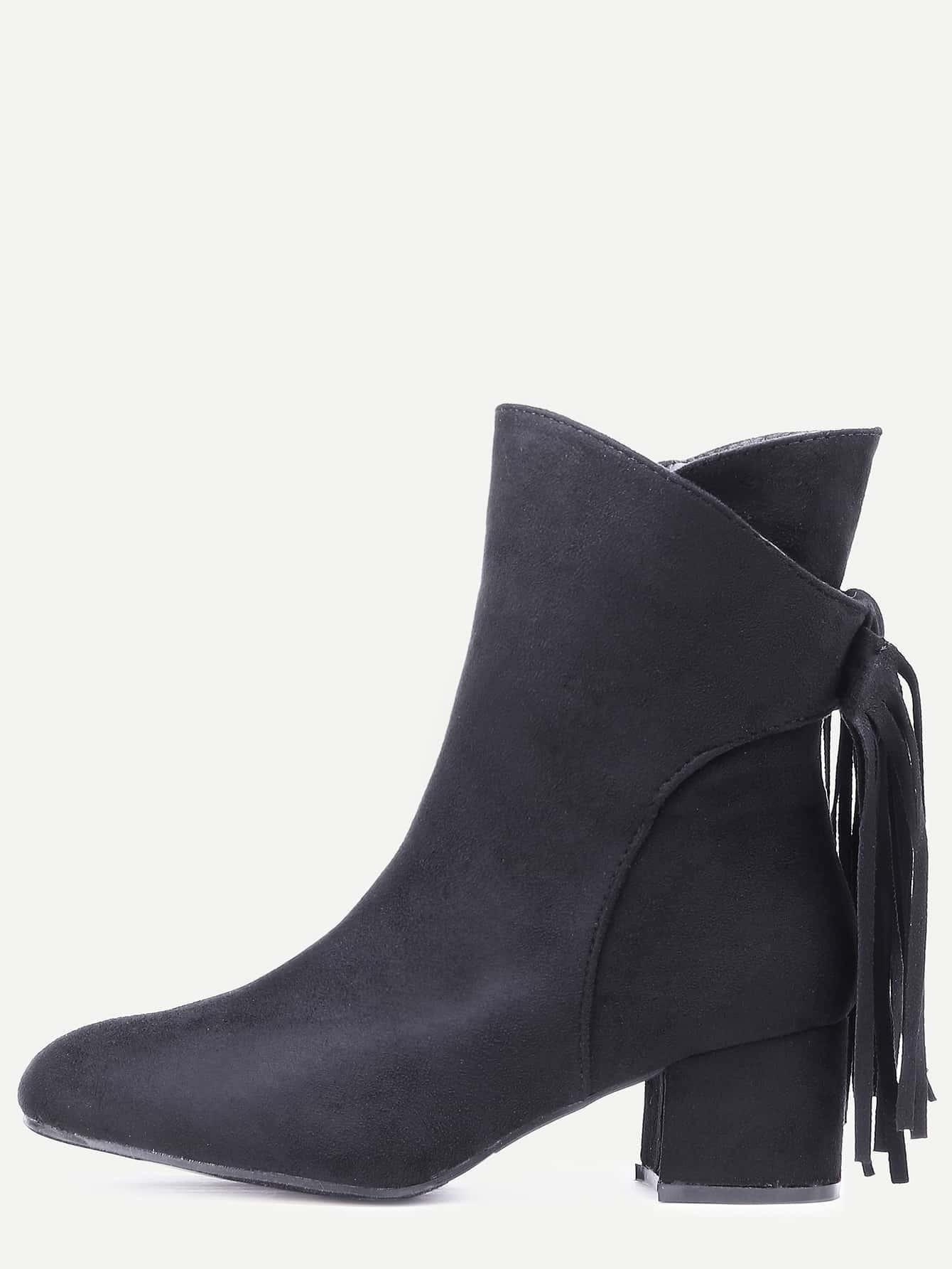 black suede fringe point toe boots