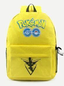 Pokemon GO Yellow Nylon Backpack