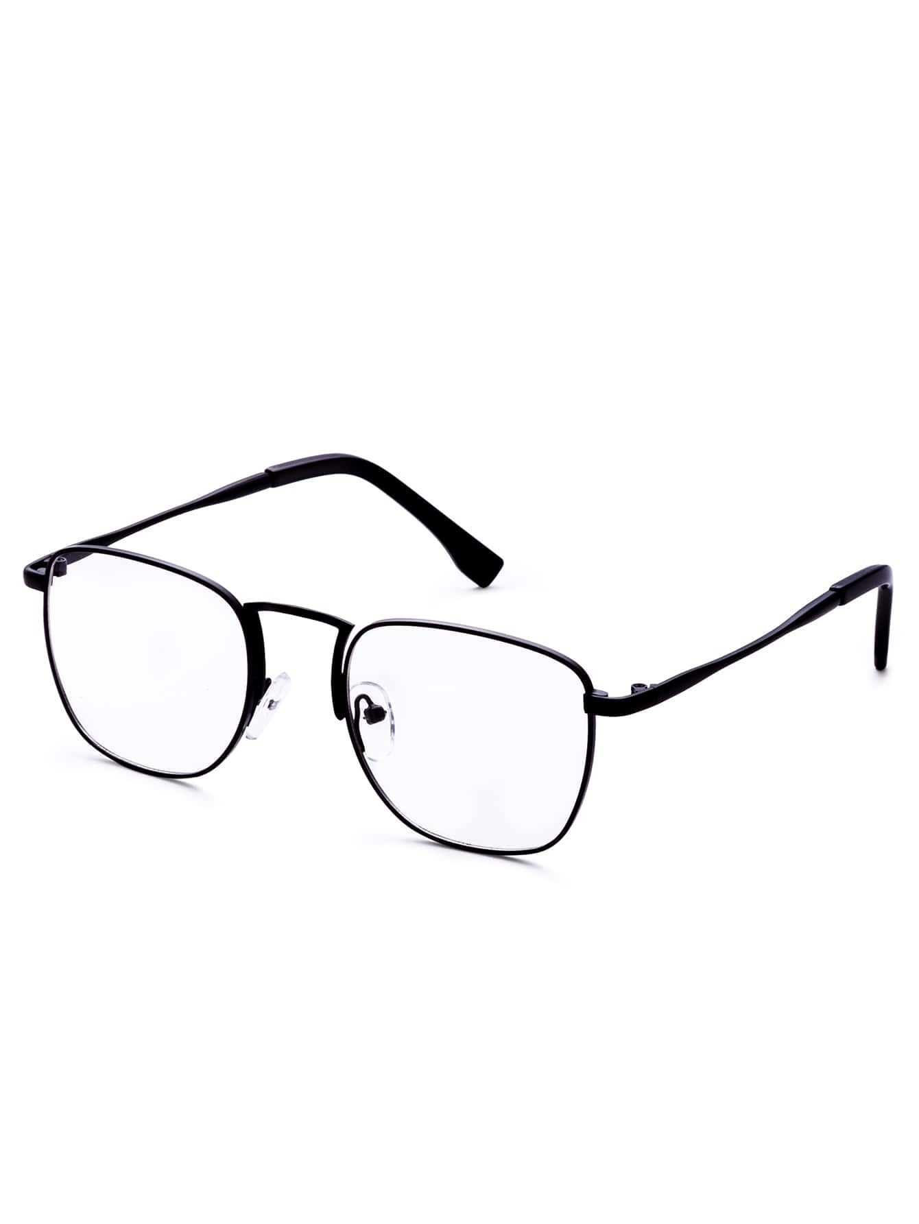 Vintage Black Frame Glasses : Black Frame Clear Lens Retro Glasses