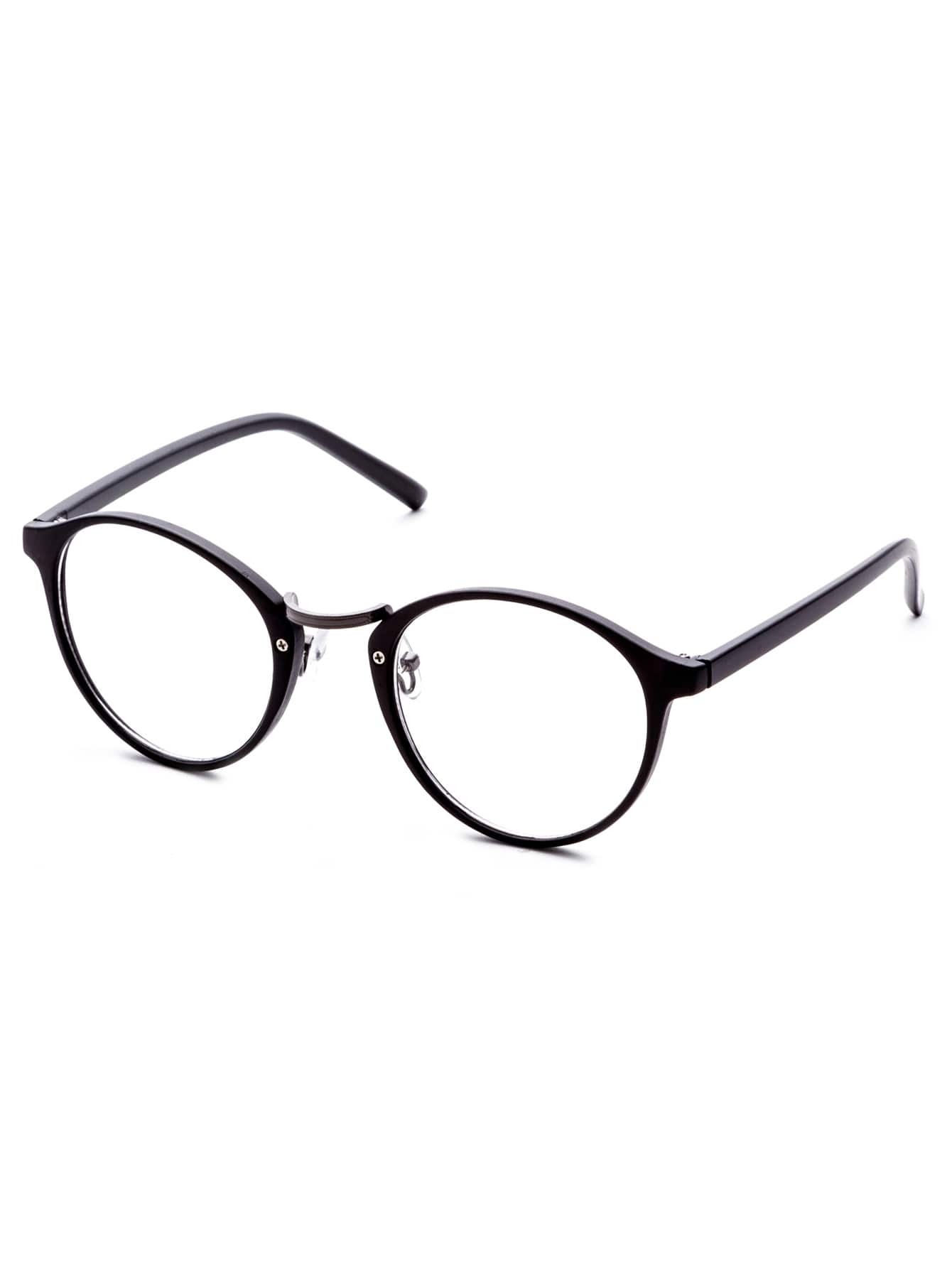 Black Frame Glasses Clear Lens : Black Frame Clear Lens Glasses