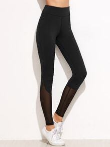 Leggings de malla - negro