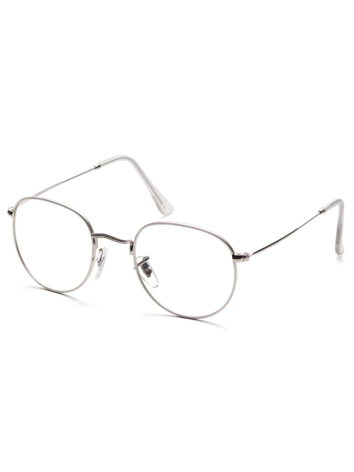 銀色 框 透明鏡片 眼鏡