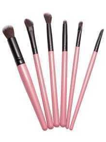 Brosses à maquillage 6PCS professionnels - rose