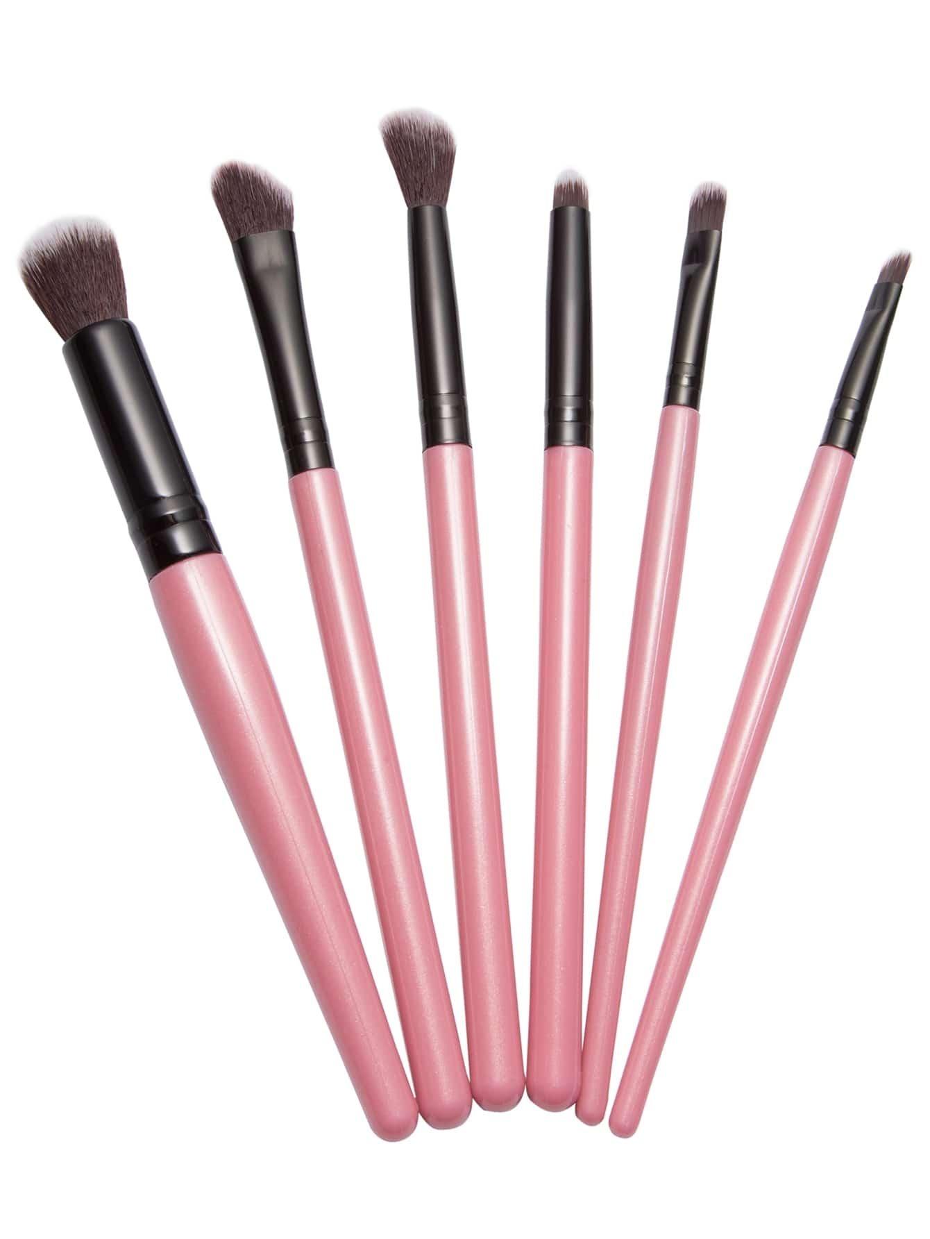 6PCS Pink Professional Makeup Brush SetFor Women-romwe