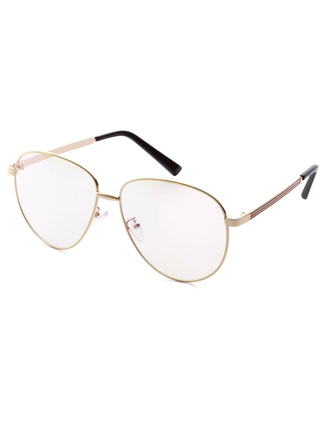 gold frame large lens vintage glasses
