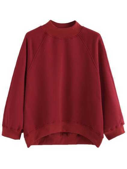 Sweat-shirt manche raglan - bordeaux