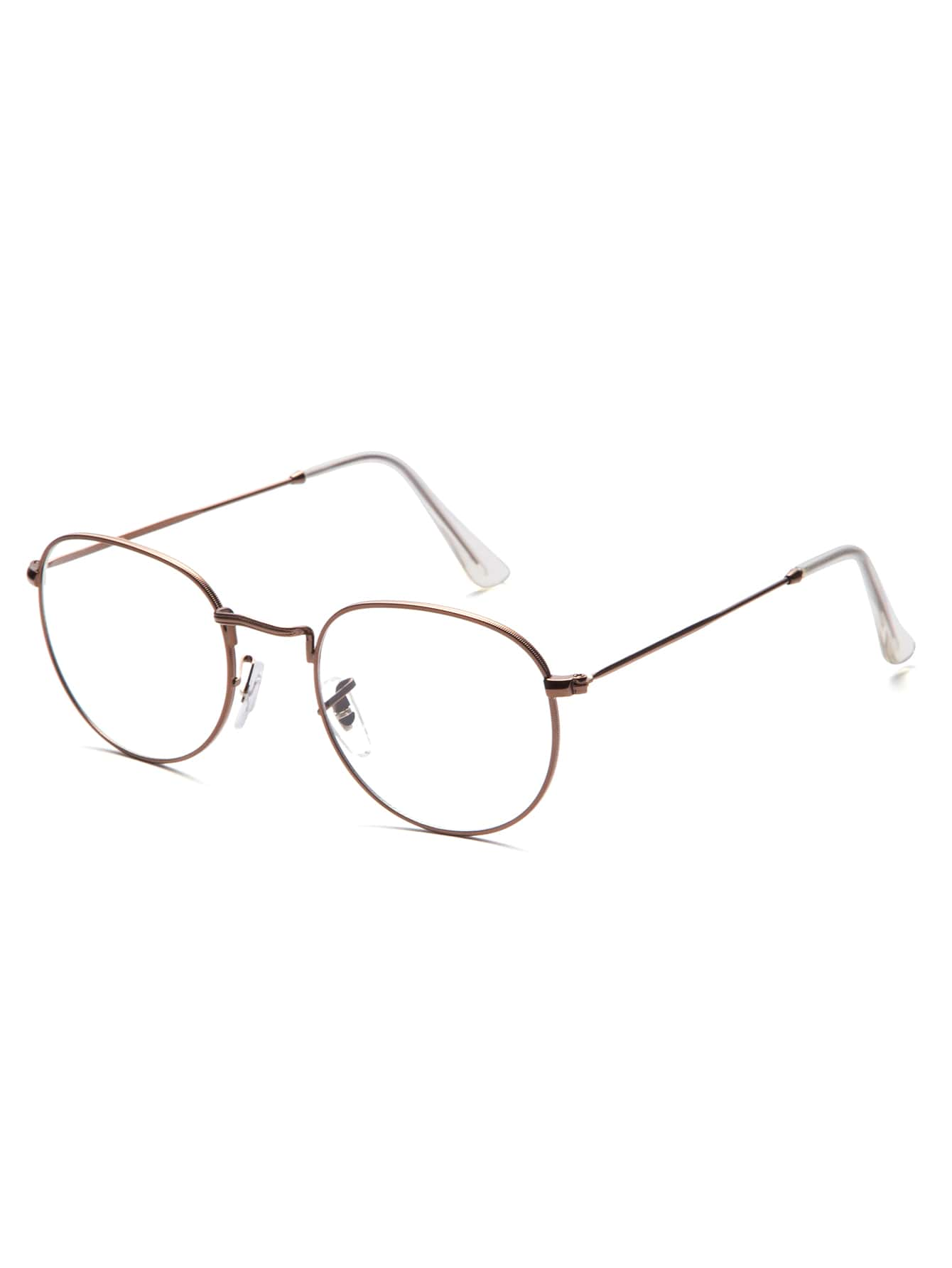 Thin Frame Hipster Glasses : Brown Thin Frame Clear Lens Glasses