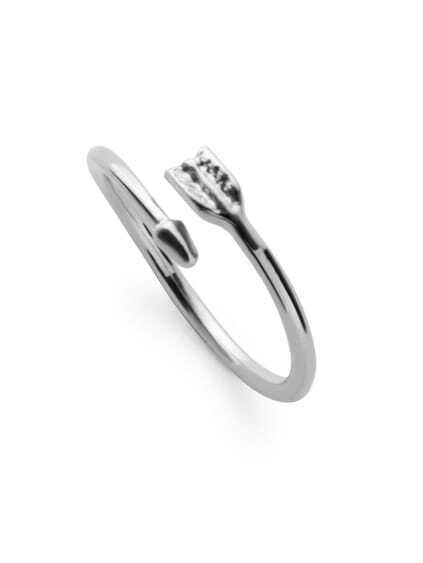 Silver Plated Arrow Wrap Ring