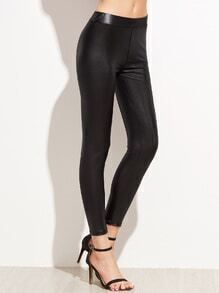Black Elastic Waist Tight Leggings