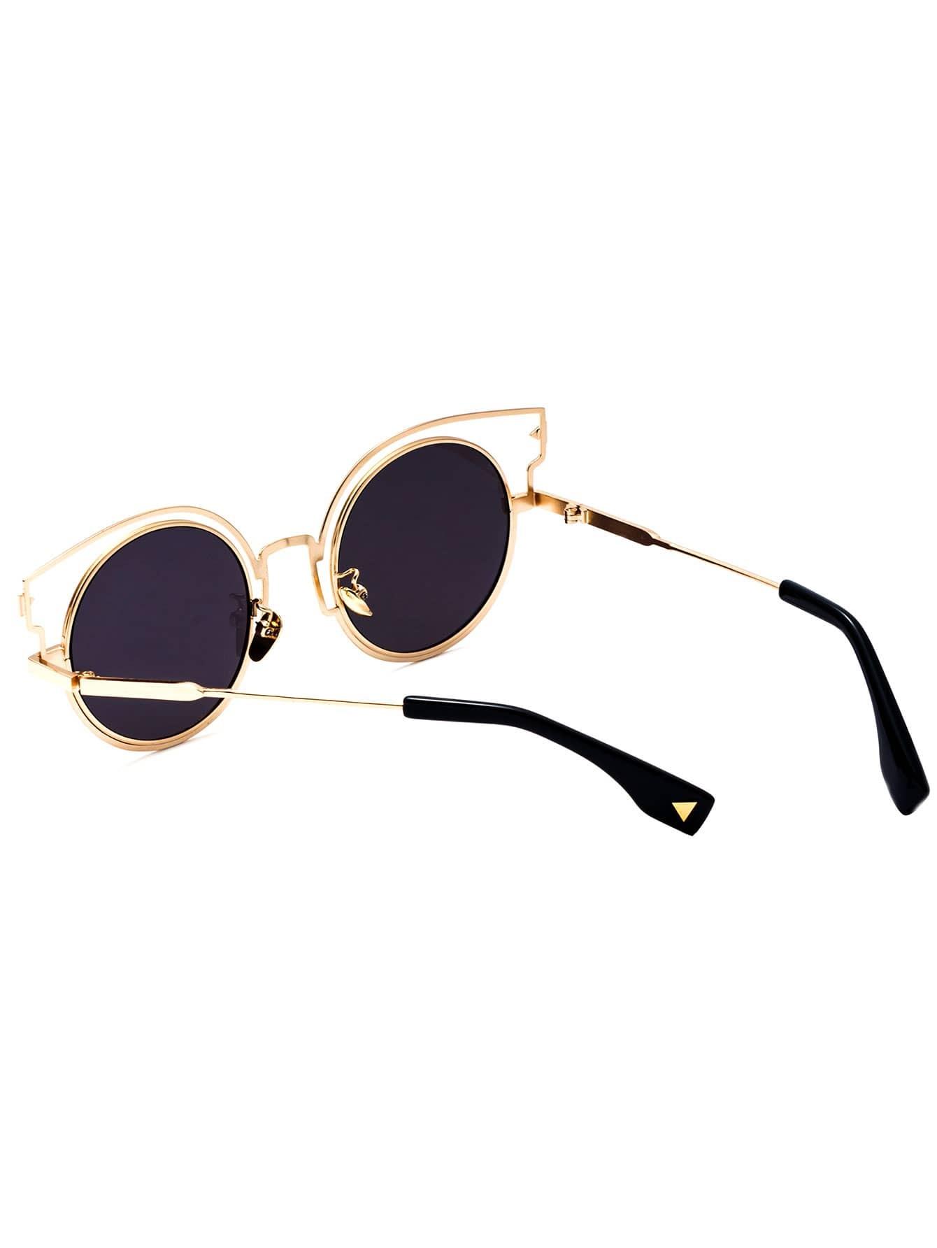 lunettes de soleil aviateur monture en forme d 39 oreille de chat french romwe