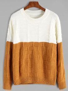 Color Block Textured Sweater