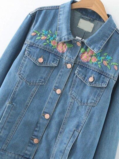 Зара джинсовые куртки с вышивкой 21