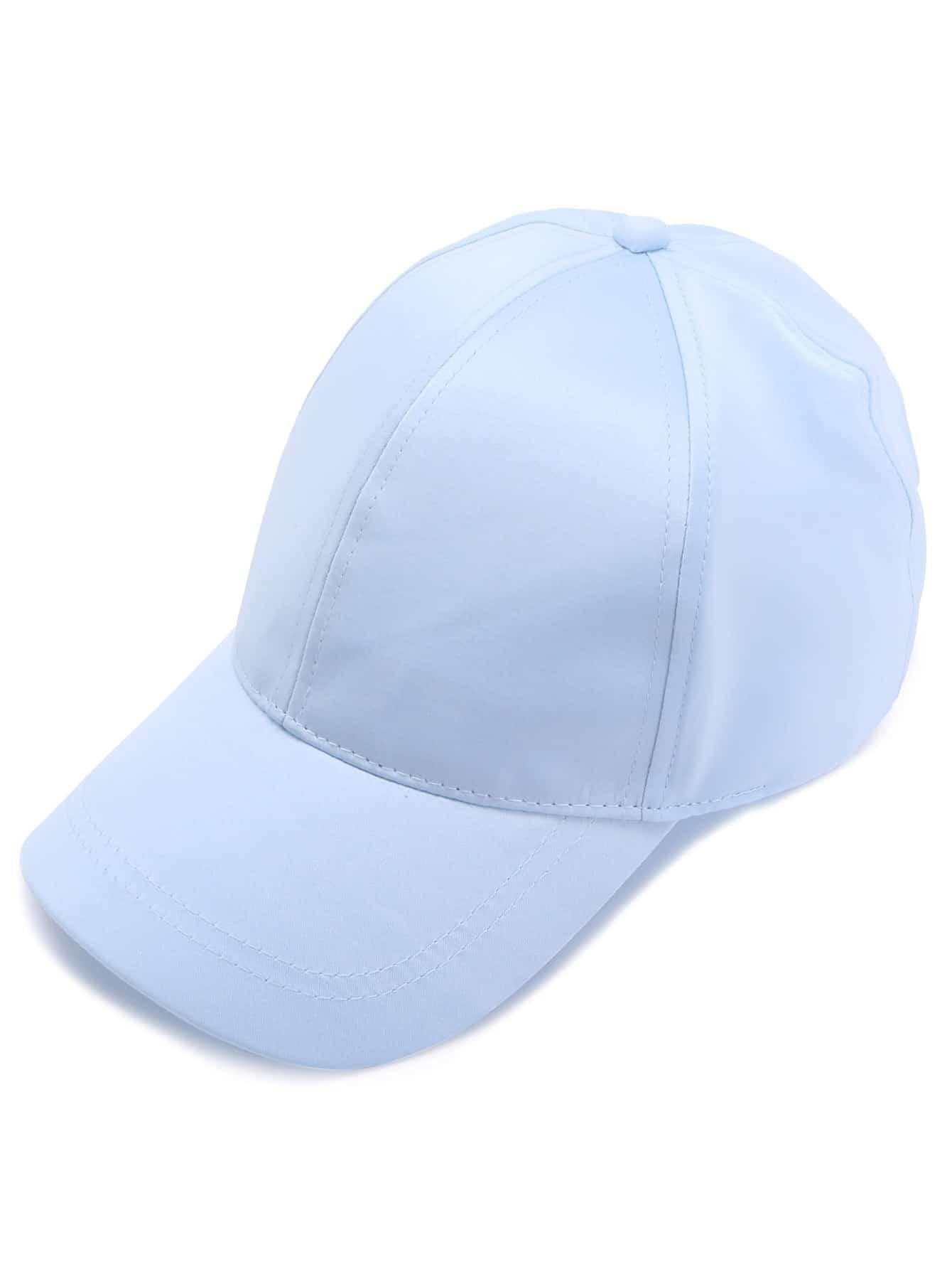 Light Blue Satin Baseball Cap