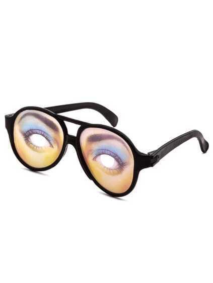 Black Frame Extreme Funny Lens Halloween Glasses