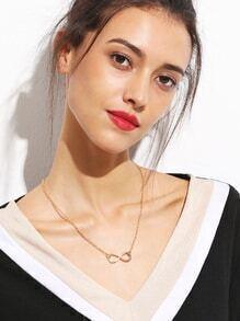 Collar geométrico - dorado