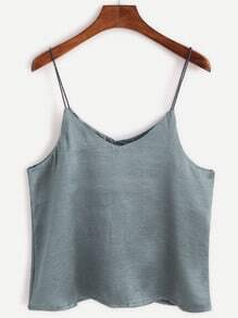 Grey Swing Satin Cami Top