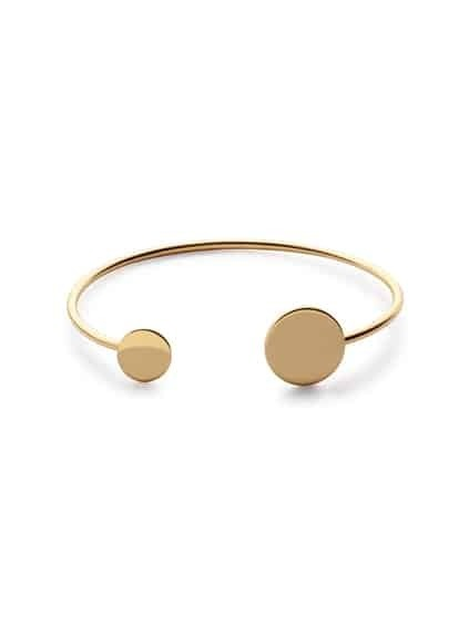 Gold Plated Coin Wrap Bangle