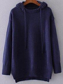Jersey asimétrico con capucha - azul marino
