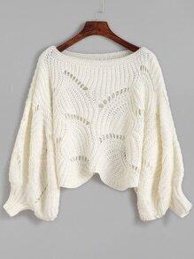 Jersey de manga farol - blanco