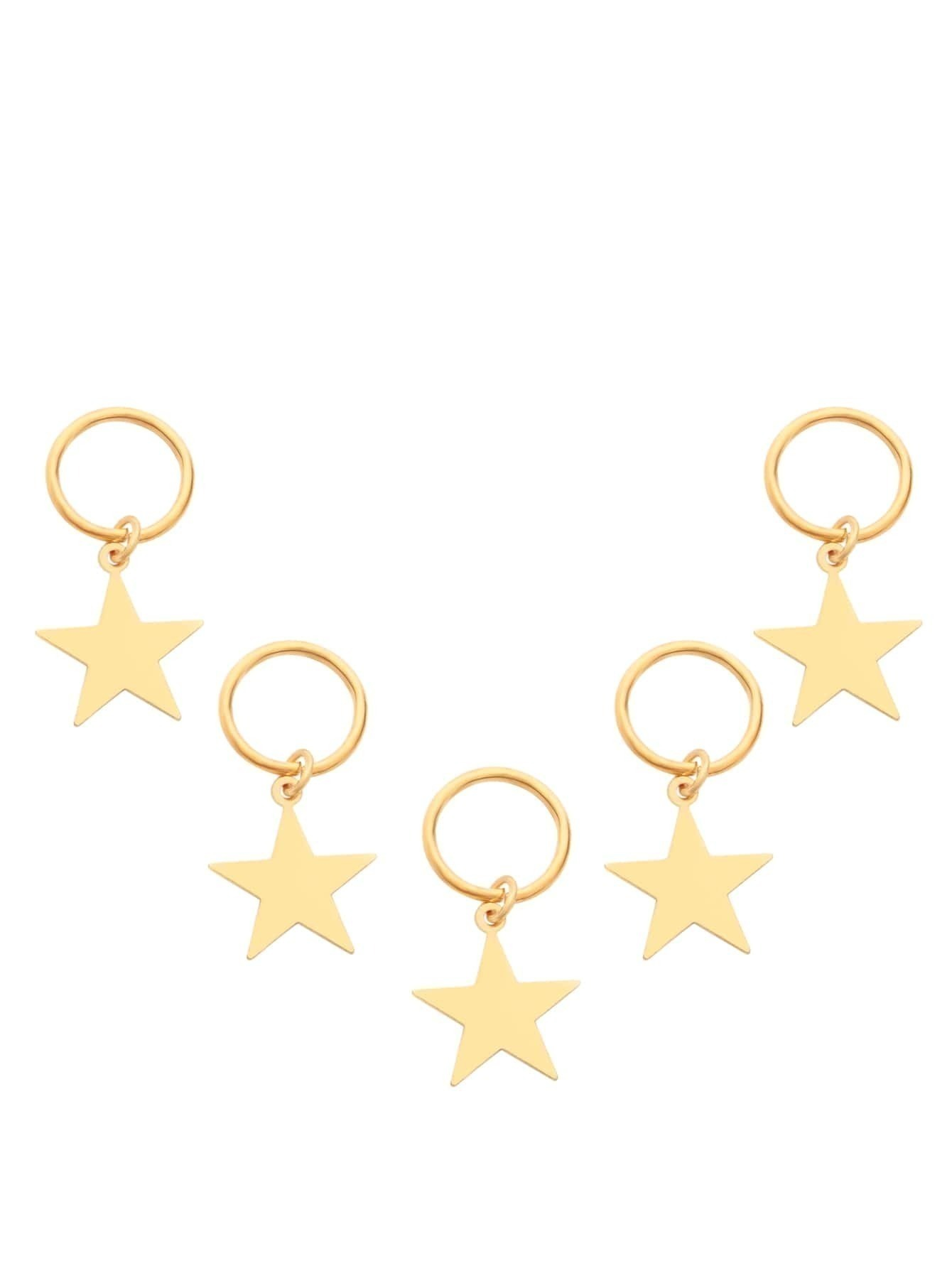 5PCS Gold Plated Star Hair AccessoriesFor Women-romwe