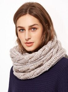 Cable Knit Scarf For Ladies