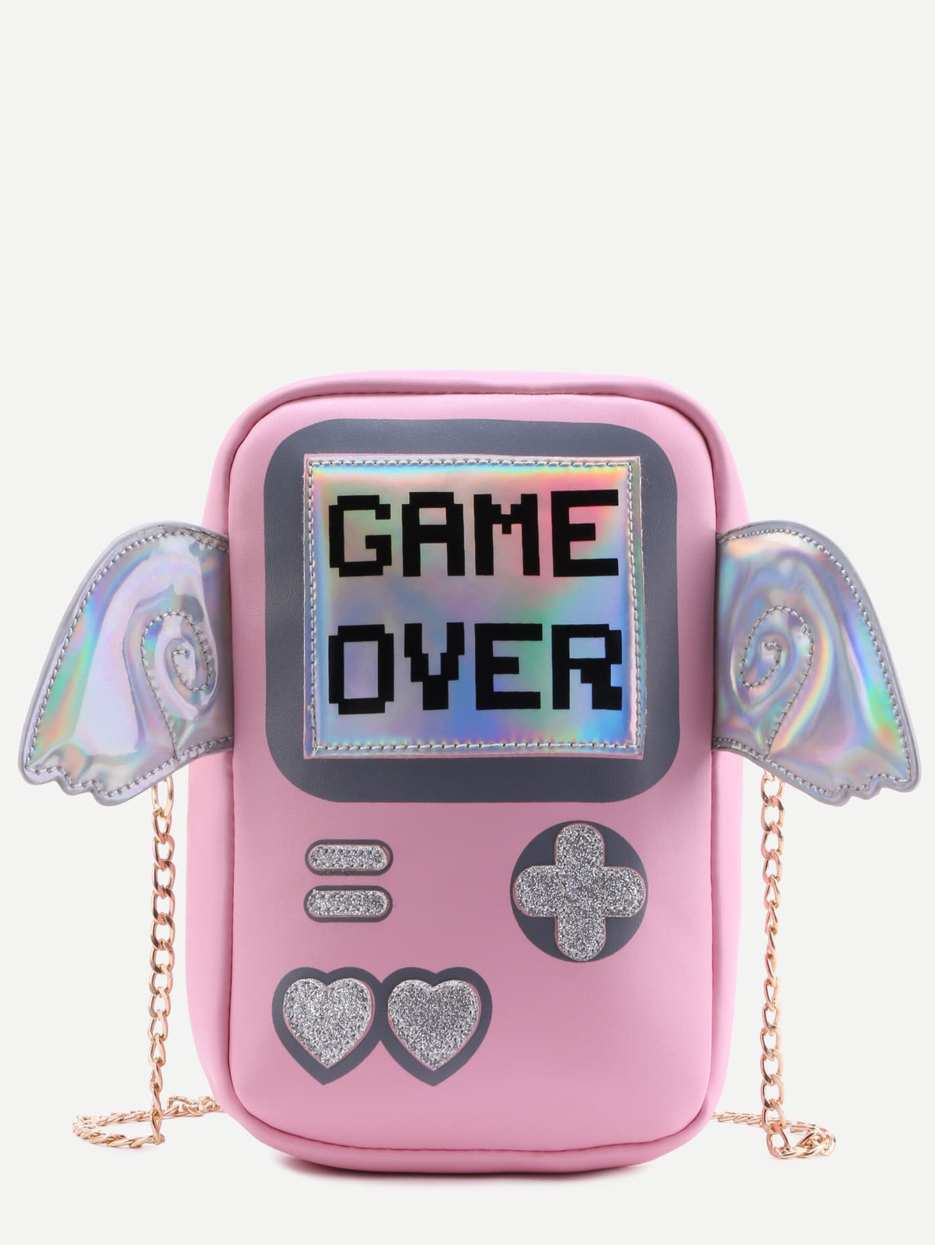 Pink Game Console Chain Bag Wings