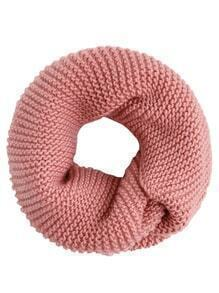 Pink Textured Knit Scarf