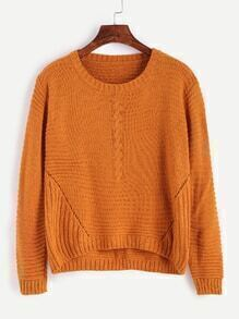 Jersey asimétrico con cuello redondo - naranja