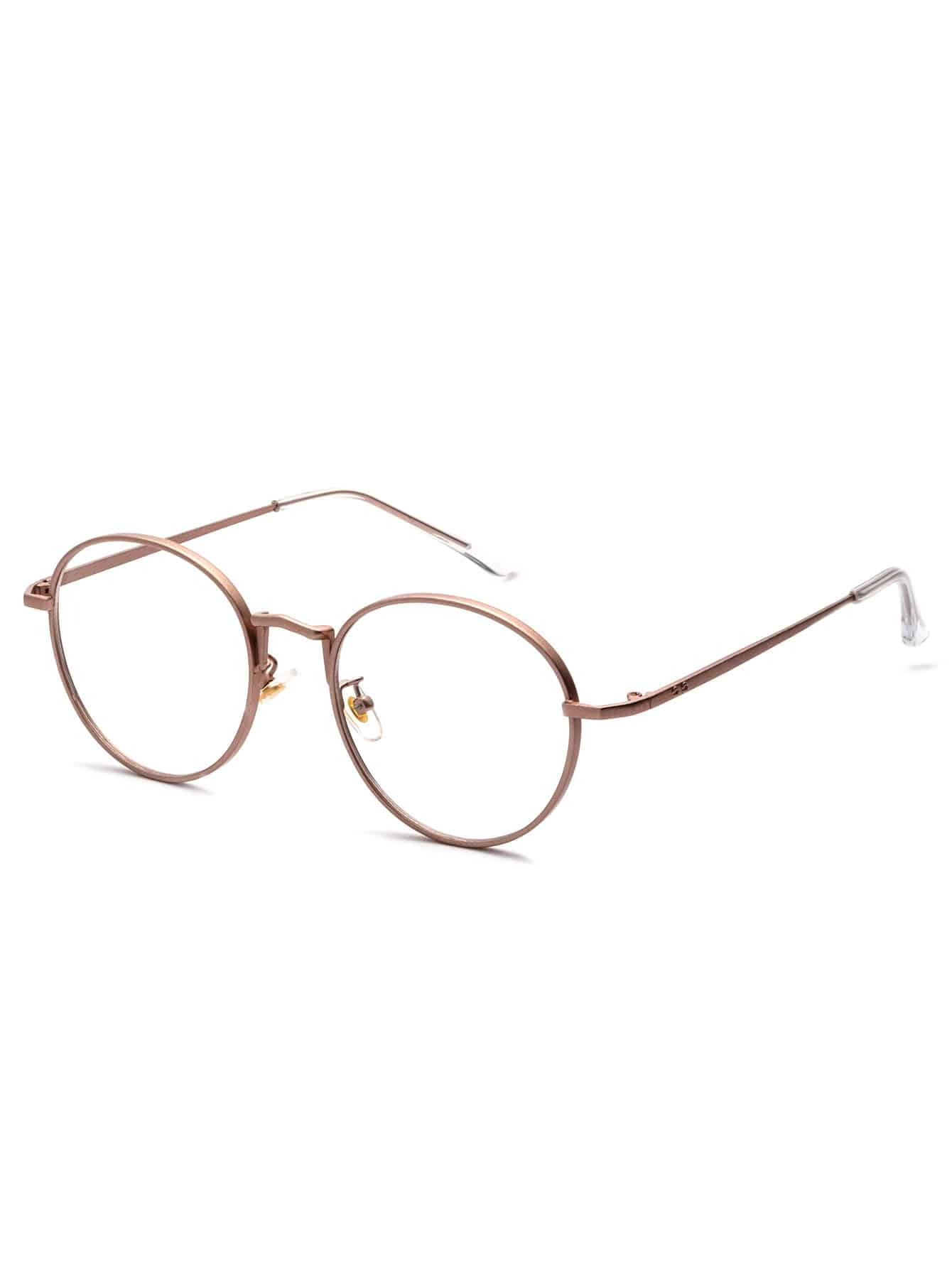 rose gold delicate frame clear lens glasses