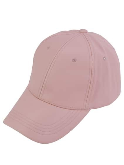 Pink Faux Leather Hip Hop Baseball Cap