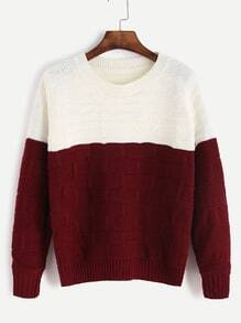 Color Block Textured Sweater