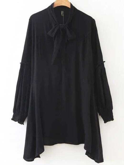 Asymmetric Long Sleeves  Dress