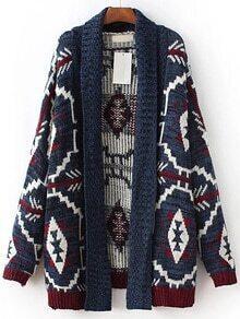 Abrigo con estampado geométrico - multicolor