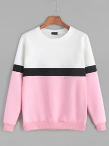 Sweatshirt Langarm-kontrastfarben
