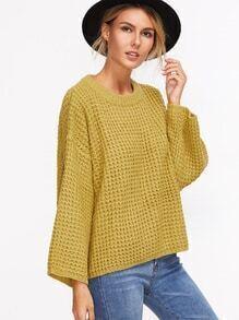 Jersey suelto de manga larga - amarillo
