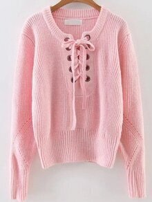 Jersey con cordón - rosa