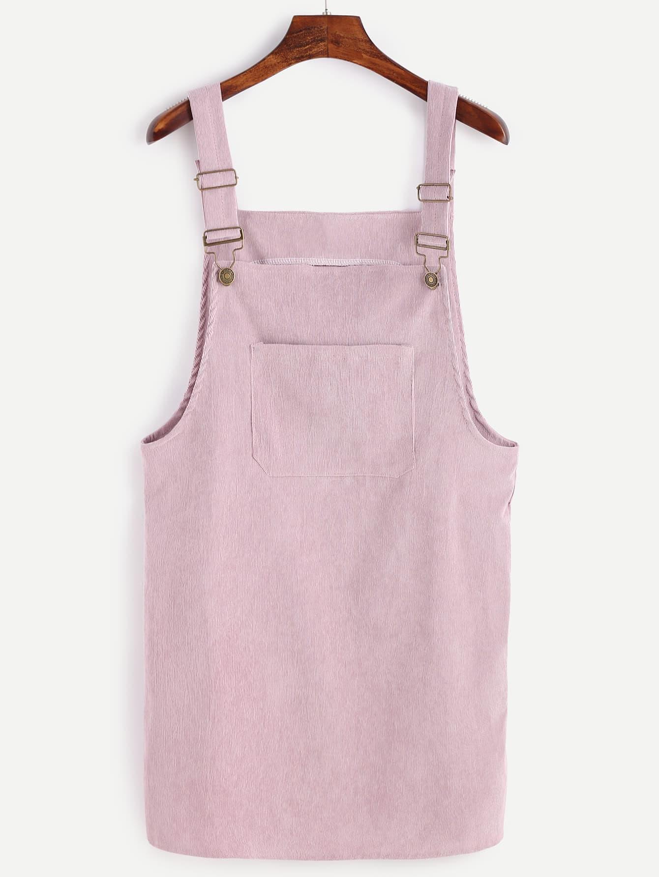 Corduroy Overall Dress With Pocket dress161021102