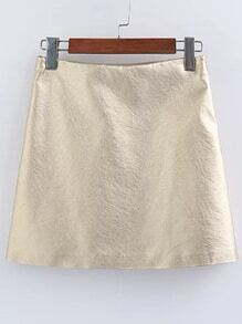 Gold PU Mini Skirt
