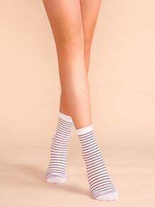 Red Stripe Casual Crew Socks
