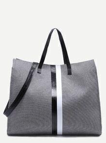 Bolsa tote de lana - gris oscuro
