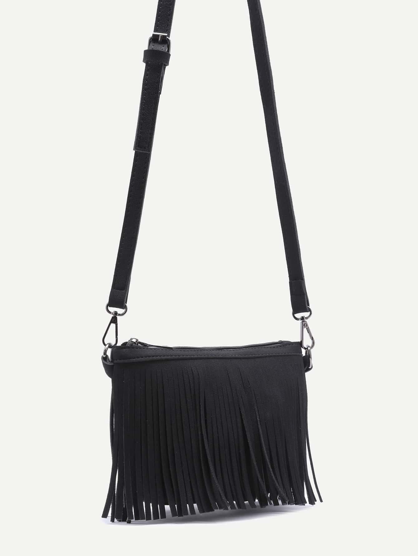 sac en bandouliere cuir nubuck avec zip noir french romwe With tapis yoga avec canapé cuir nubuck