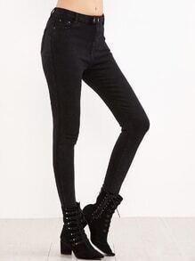 Pantalons collants avec poche - noir