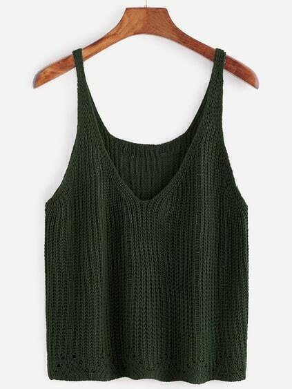 Dark Green V Neck Sweater Vest
