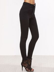 Black High Waist Skinny Stretch Pants