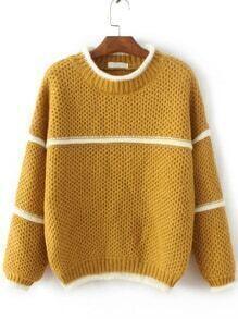Jersey con cuello redondo - amarillo