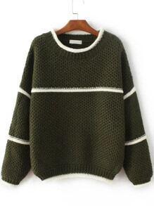Jersey con cuello redondo - verde militar