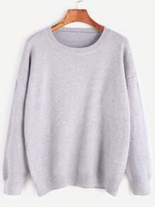 Jersey con hombro caído - gris claro