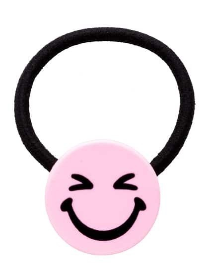 Light Purple Cartoon Smiley Face Hair Tie