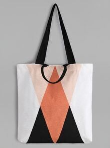 Geometric Pattern Minimalist Canvas Tote Bag