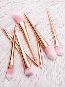 Collection de brosse à maquillage cosmétique professionnelle - rose et doré